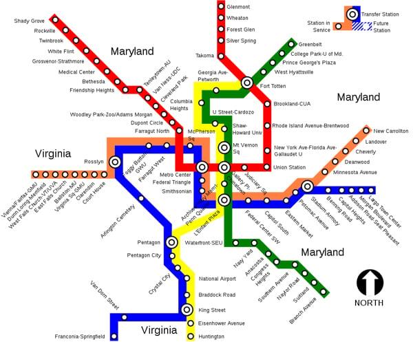 DC Metro Map Information Design