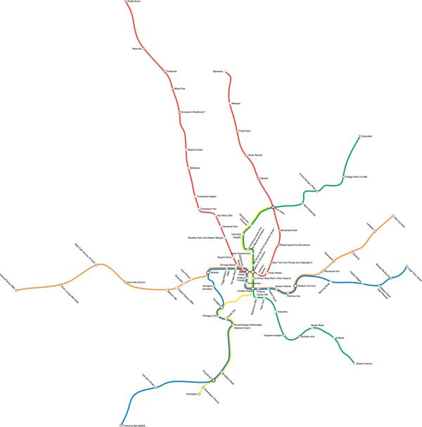 DC Metro Map Poor Information Design