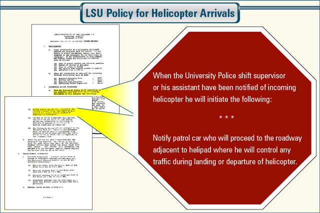 stop sign document callout legal graphic