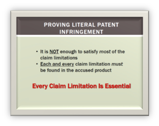 literal patent litigation infringement