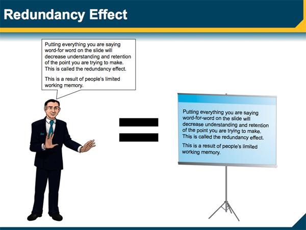 Legal graphics powerpoint redundancy effect