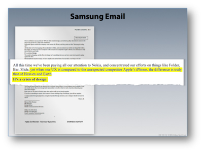 samsung apple email evidence smoking gun