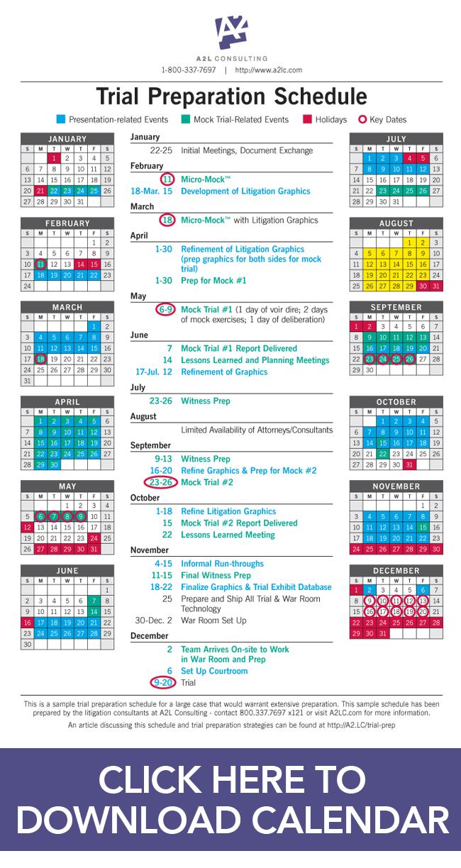 jury consultants mock trial calendar sdny delaware dc edva edtx cdca