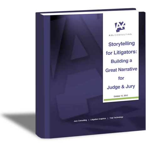 storytelling for lawyers litigators litigation support courtroom narrative icon
