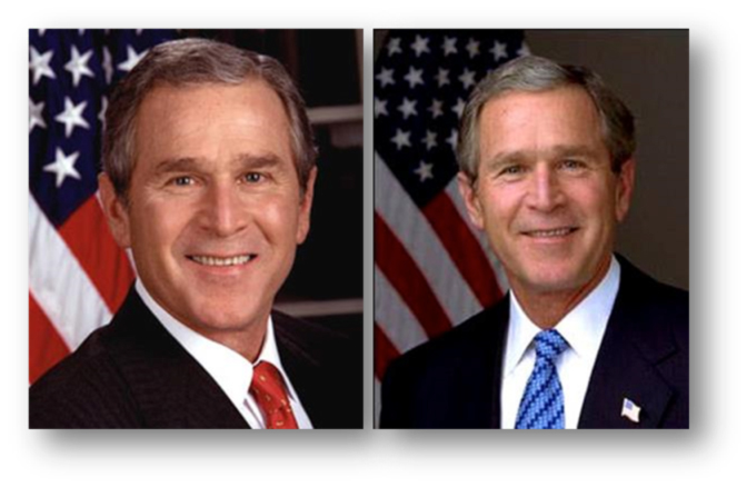 president george bush trust color example