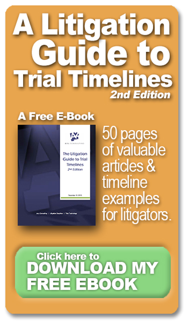 trial timelines graphics consultants litigators