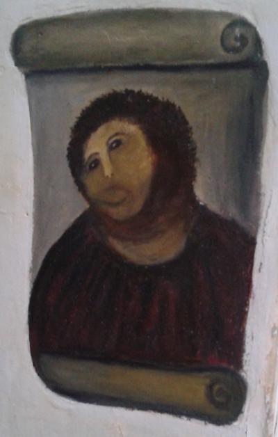 jesus fresco painter presentation board