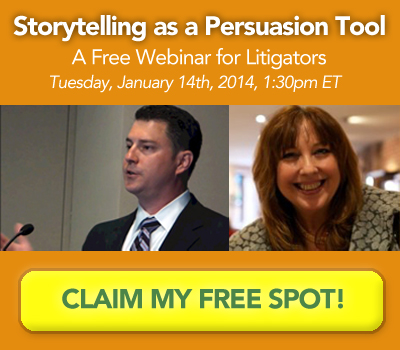storytelling in litigation webinar