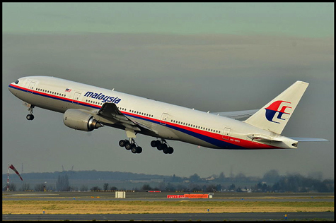 malaysian airlines flight 370 photo of plane